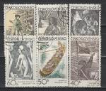 Живопись, Графика, ЧССР 1971 год, 6 гашёных марок