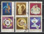 Предметы Искусства, Фарфор, Польша 1982 год, 6 гашеных марок