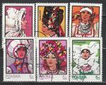 Головные Уборы, Польша 1983 год, 6 гашёных марок