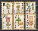 Настольные Лампы, Польша 1982, 6 гаш. марок