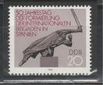 50 лет Интербригадам в Испании, ГДР 1986 год, 1 марка