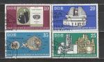 Академия наук в Берлине, ГДР 1975 год, 4 гашёные марки.  космос