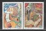 Италия 1994 год, Искусство, Цирк, 2 марки