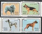 Собаки, Италия 1994 год, 4 марки. (н