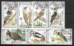 Лесные птицы. Монголия 1987 г. 7 гаш. марок