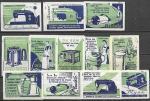 Набор спичечных этикеток. Реклама бытовой техники. 1959 год. 12 шт.
