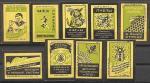 Набор спичечных этикеток. Мед и пчеловодство. 9 шт. 1959 год