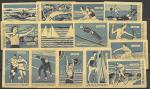 Набор спичечных этикеток. Спорт. 1963 год. 14 шт