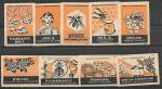 Набор спичечных этикеток. Мед. 1961 год. 9 шт.