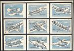 Набор спичечных этикеток. Авиация. 1959 год. 9 шт