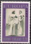 Финляндия 1974 год. Европа. Скульптуры, 1 марка