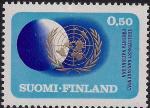 Финляндия 1970 год. 25 лет ООН. 1 марка