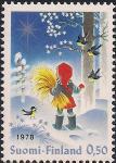 Финляндия 1978 год. Рождество. Девочка в лесу. 1 марка