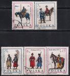 Польша 1983 год. Старинная военная форма. 5 гашеных марок