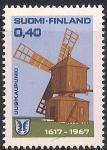 Финляндия 1967 год. 350 лет городу Уусикаупунки. Марка