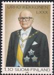 Финляндия 1980 год. 80 лет президенту Урхо Кекконену. 1 марка