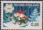 Финляндия 1974 год. Рождество. 2 гнома. 1 марка