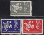 Турция 1961 год. Европа СЕПТ. 3 марки
