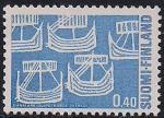 Финляндия 1969 год. 100 лет Объединённой почтовой службе Скандинавии. Марка