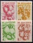 Болгария 1956 год. Фрукты. 4 гашеные марки