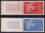 Франция 1961 год. Европа СЕПТ. 2 марки