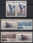 Французские антарктические территории 1956 год. Пингвины и ластоногие. 6 марок
