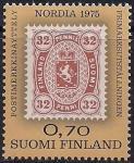 """Финляндия 1975 год. Международная филвыставка """"Нордиа-77"""" в Хельсинки. Марка"""