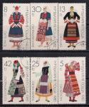 Болгария 1983 год. Народные костюмы. 6 гашеных марок