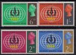 Фолклендские острова 1968 год. Международный год прав человека. 4 марки