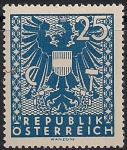 Австрия 1945 год. Изображения герба. 1 марка