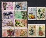 Куба 1969 год. Земледелие и животноводство. 12 гашеных марок
