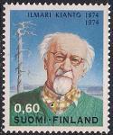 Финляндия 1974 год. 100 лет со дня рождения писателя Илмари Кианто. Марка