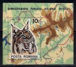 Румыния 1985 год. Рысь. Среда обитания. 1 блок