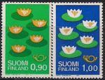 Финляндия 1977 год. Охрана окружающей среды. Водные растения. 2 марки