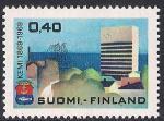 Финляндия 1969 год. 100 лет городу Кеми. Марка