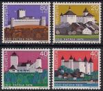 Швейцария 1976 год. Старинные замки и крепости. 4 марки