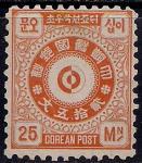 Корея 1884 год. Иероглифы. Символика. 1 марка