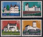 Швейцария 1977 год. Старинные замки. 4 марки
