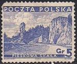 Польша 1935 год.Замок Пескова-Скала. Марка