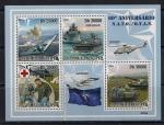 Сан-Томе и Принсипи 2009 год. 60 лет НАТО. Самолеты, вертолеты, танки, суда. Малый лист
