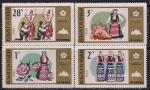 """Болгария 1970 год. Выставка """"Экспо-70"""" в Японии. Национальные танцы и костюмы. 4 марки"""