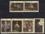 Куба 1981 год. Картины Национального музея Обрас. 6 гашеных марок