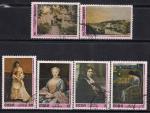Куба 1976 год. Картины Национального музея в Гаване. 6 гашеных марок