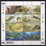 Мальта 2004 год. Рыбы, змеи, ящерицы. 1 малый лист