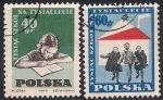 Польша 1959 год. Тысячная школа, построенная в стране. 2 гашеные марки