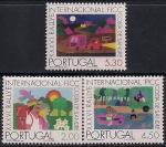 Португалия 1975 год. Любители кемпинга. Детские рисунки. 3 марки