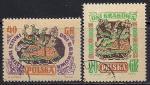 """Польша 1955 год. Выставка """"Краковские дни"""". Лубочные картинки. 2 гашеные марки"""