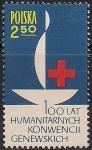Польша 1963 год. 100 лет Международному Красному Кресту. 1 марка
