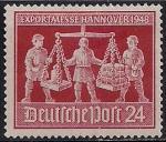 Германия 1948 год. (Советская зона оккупации). Ярмарка в Ганновере. 1 марка с наклейкой из серии