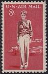 США 1963 год. 65 лет со дня рождения 1-й женщины-авиатора и писательницы Амели Эрхарт. 1 марка